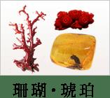 珊瑚・琥珀